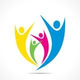 Coloridos creativos gozan o el diseño del icono de la celebración Imagen de archivo