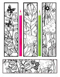 Coloring with abstract elements bookmarks Royalty Free Stock Photography