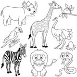 Coloring African Animals [1] stock illustration