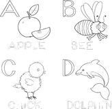 Coloring alphabet Royalty Free Stock Photos