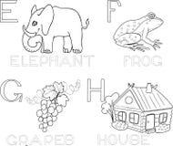 Coloring alphabet Stock Photos