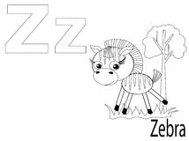 Coloring Alphabet For Kids,Z Royalty Free Stock Photo