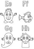 Coloring Alphabet for Kids [2] Stock Photos