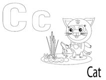 Coloring Alphabet for Kids,C. Cat Stock Photo
