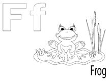 Coloring Alphabet for Kids,F. Frog Stock Image