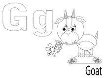Coloring Alphabet for Kids,G. Goat Stock Photos