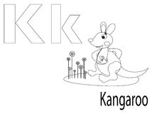 Coloring Alphabet for Kids,K. Coloring Alphabet for Kids K Stock Photo