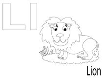 Coloring Alphabet for Kids,L Stock Image