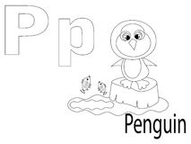 Coloring Alphabet for Kids,P. Penguin Stock Images