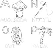 Coloring alphabet Stock Images
