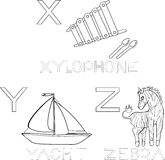 Coloring alphabet Royalty Free Stock Photography