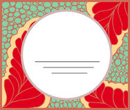 Coloring anti-stress floral abstract blank card Royalty Free Stock Image