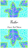 Coloring anti-stress floral abstract blank card Royalty Free Stock Photo