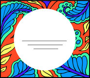 Coloring anti-stress floral abstract blank card Royalty Free Stock Images