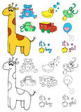 Coloring baby objects Royalty Free Stock Photography