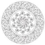 Coloring Beautiful Floral Mandala royalty free illustration