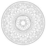 Coloring Beautiful Round Ornament stock illustration
