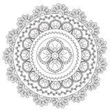 Coloring Black Abstraction Mandala royalty free illustration
