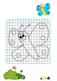 Coloring book 1 - butterfly Royalty Free Stock Photo