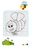 Coloring book 2 - bee Stock Photo