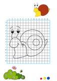 Coloring book 6 - snail royalty free stock photos