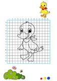 Coloring book 7 - duckling Royalty Free Stock Photos