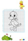 Coloring book 7 - duckling royalty free stock photos