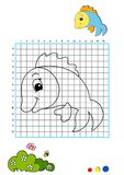 Coloring book 8 - fish Stock Photo