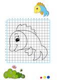 Coloring book 8 - fish stock photo