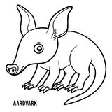 Coloring book, Aardvark Royalty Free Stock Images