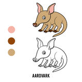 Coloring book, Aardvark. Coloring book for children, Aardvark Royalty Free Stock Photography
