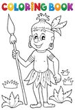 Coloring book Aborigine theme 1. Eps10 vector illustration vector illustration