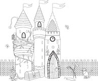 Coloring book for adult and older children. Coloring page with d Royalty Free Stock Image