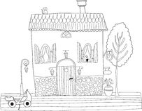 Coloring book for adult and older children. Coloring page with d Stock Photography
