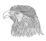 Coloring Book for Adults and children. Brutal eagle Stock Photos