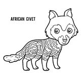 Coloring book, African civet Royalty Free Stock Photography