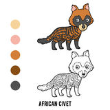 Coloring book, African civet Royalty Free Stock Photos