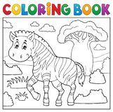 Coloring book African nature topic 4 royalty free illustration