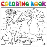 Coloring book African nature topic 5 royalty free illustration
