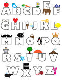 Coloring Book Alphabet Royalty Free Stock Image