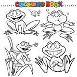Coloring Book. Animal Cartoon Coloring Book - Frog Stock Photography