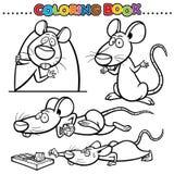 Coloring Book. Animal Cartoon Coloring Book - Rat Royalty Free Stock Images