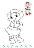Coloring book animal dancers 11 - elephant royalty free stock photography