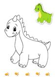 Coloring book of animals 1 - dinosaur stock illustration