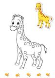 Coloring book of animals 10 - giraffe Stock Image