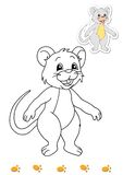 Coloring book of animals 11 - mouse Royalty Free Stock Images
