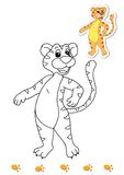 Coloring book of animals 12 - tiger Royalty Free Stock Image
