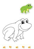 Coloring book of animals 14 - frog vector illustration
