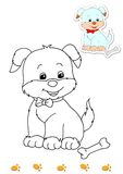Coloring book of animals 9 - dog Stock Photography