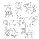 Coloring book with animals Stock Photography